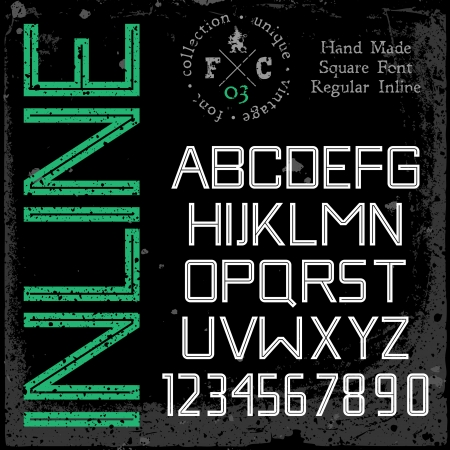sans serif: Grunge textures placed in separate layers  Vector illustration  Illustration