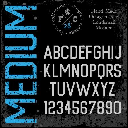 retro font: Caratteri a mano retr�