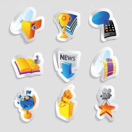 Icons for media and entertainment  Vector illustration Stock Vector - 22545244
