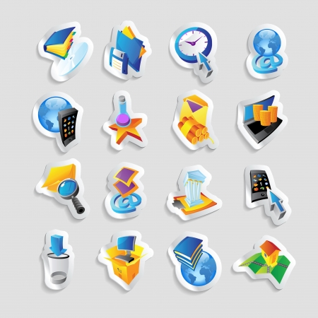 Icons for technology and computer interface. Vector illustration. Stock Vector - 22549000