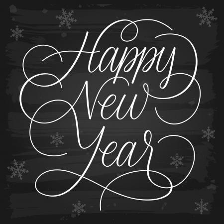 nouvel an: Happy voeux de Nouvel An tableau noir EPS-10 vecteur de transparence Illustration