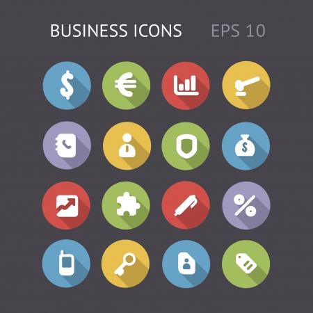 Flat icons for business  Vector eps10 contains objects with transparency