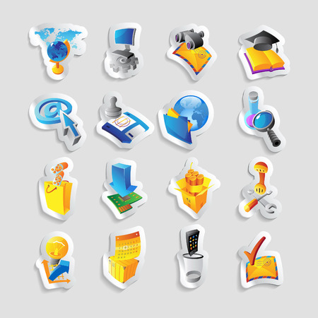 email bomb: Icons for technology and computer interface  Vector illustration