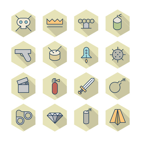 miscellaneous: Thin Line Icons For Miscellaneous Items