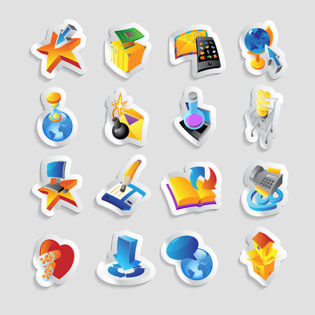 Icons for technology and computer interface  Vector illustration  Vector
