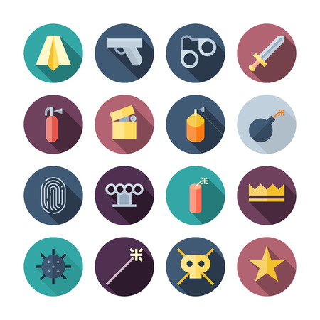 miscellaneous: Flat Design Miscellaneous Icons   transparent shadows  Illustration