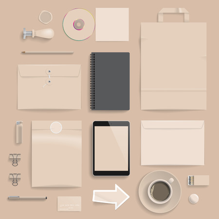 lighter: Corporate identity template on brown background