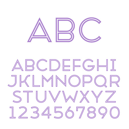 inline: Handmade sans-serif font  Regular inline type  Vector illustration