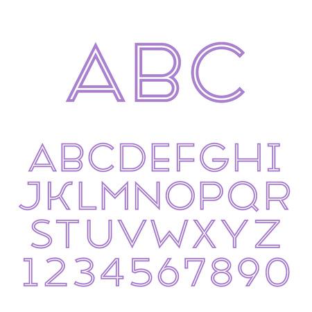 sans serif: Handmade sans-serif font  Regular inline type  Vector illustration