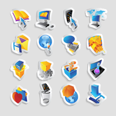 Icons for technology and computer interface.  Vector