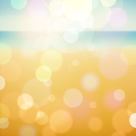 Summer tropical beach bokeh background.