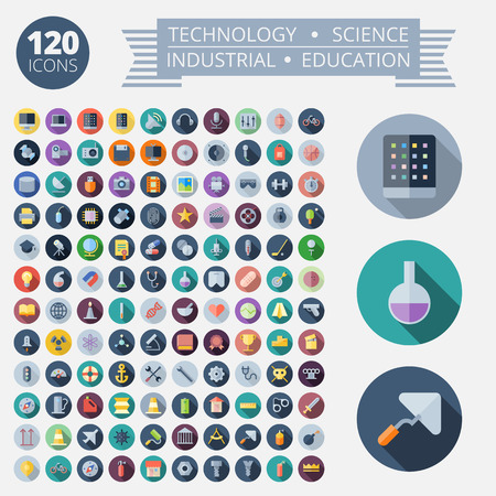 flack: Flat Design Icons For Technology, Industrial, Science and Education.