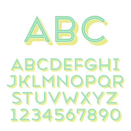 extruded: Fatto a mano tipo di carattere sans-serif. 3d-estruso Regular tipo. Glifo principale, forma in linea e 3d parte estruso posto in strati separati di file vettoriale.