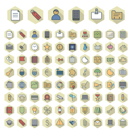Thin Line Icons For Business and Finance. Vector eps10.
