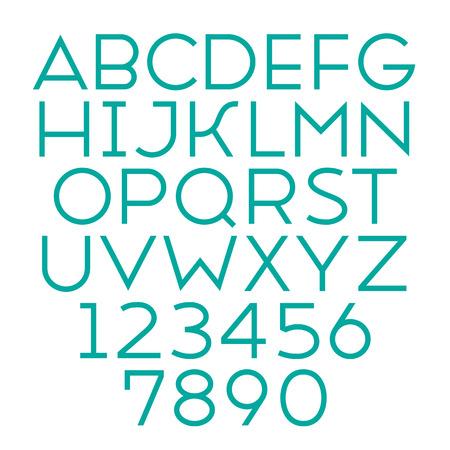 sans serif: Handmade sans-serif font. Regular type. Vector illustration.
