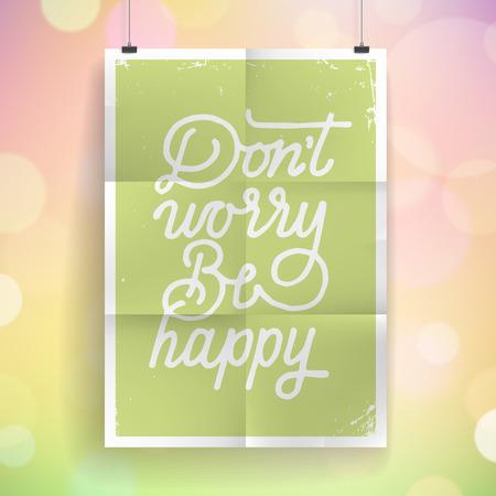 slogan: Poster with hand drawn lettering slogan on vintage background. Illustration