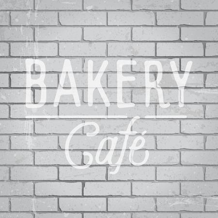 slogan: Hand drawn lettering slogan on grunge gray brick wall background.