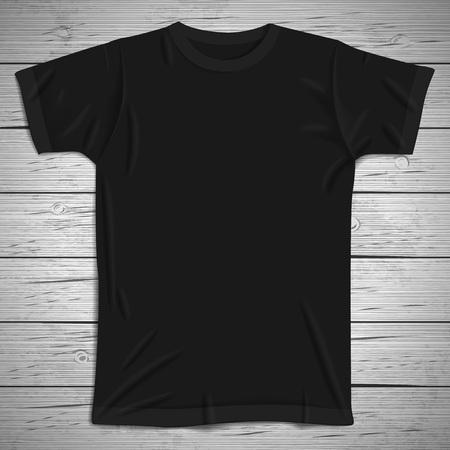 Fondo de la vendimia con la camiseta en blanco. Ilustración del vector.