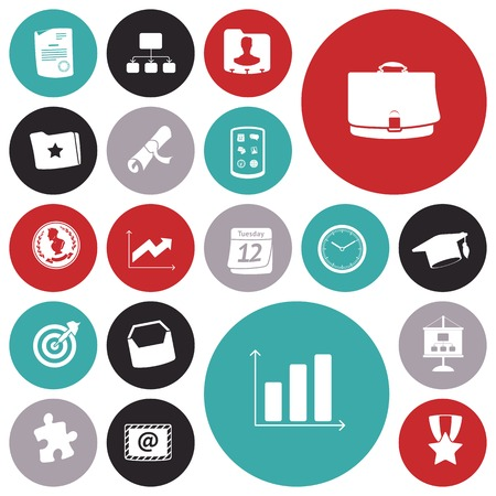 money button: Flat design icons for business and finance. Vector illustration. Illustration
