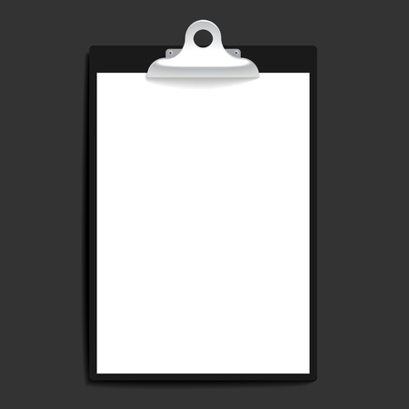 clipboard: Clipboard with paper vintage background. Vector illustration.