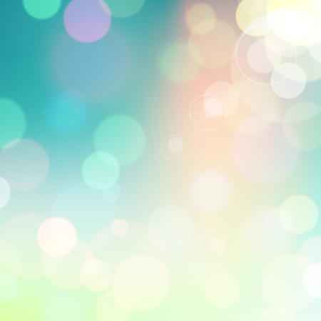 Festlich bunten Hintergrund der blauen und grünen Farben mit Bokeh defokussiert Lichter. Vektor eps10