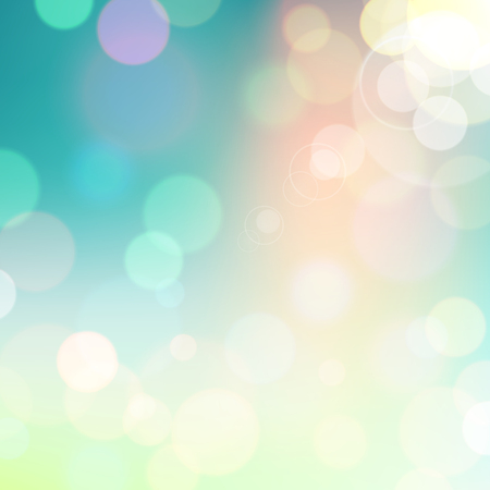 Festive colorful background of blue and green colors with bokeh defocused lights. Vector eps10.