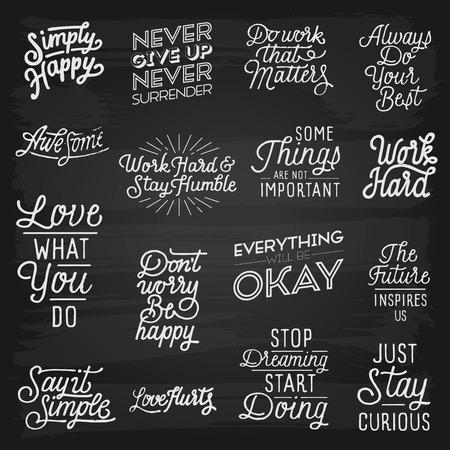 slogans: Hand drawn lettering slogans. Vector illustration. Illustration