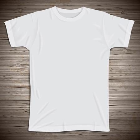 Vintage background avec t-shirt blanc. Vector illustration. Vecteurs