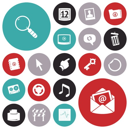 photo printer: Flat design icons for user interface. Vector illustration.
