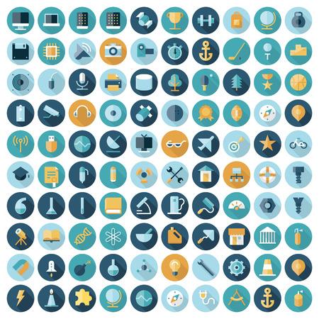 flat: Flat design icons for Illustration