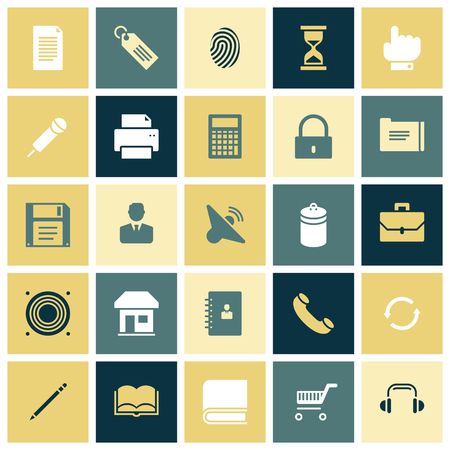 os: Flat design icons for user interface. Vector illustration.