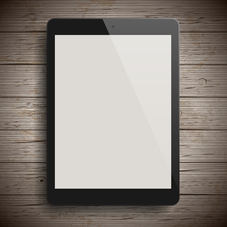 blank tablet: Background with blank tablet computer. Vector illustration.