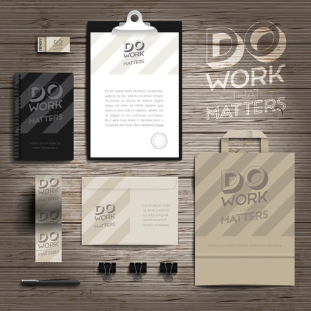 matchbox: Corporate identity stationery objects print template. Vector illustration.