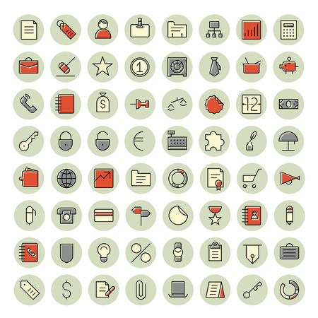 finance icons: Thin line icons for business, finance and banking. Vector illustration. Illustration