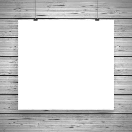 blank poster: Blank paper poster vintage background. Vector illustration.