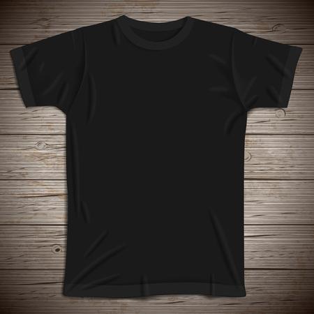 brown shirt: Vintage background with blank t-shirt. Vector illustration. Illustration