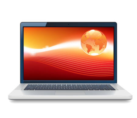 laptop screen: Laptop icon. Illustration