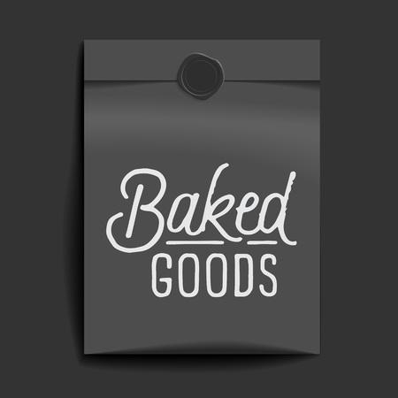 Baked goods lettering.