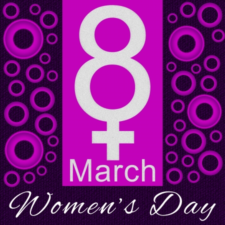 8 march: 8 March - Purple and Pink Cirlce Background
