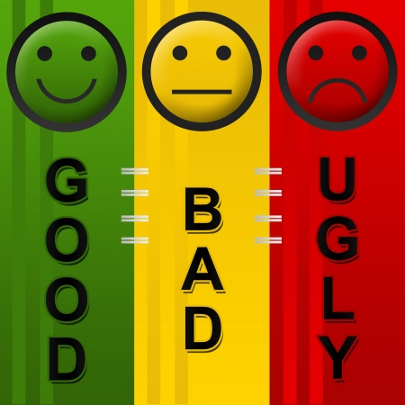 Good Bad Ugly Standard-Bild - 18563106