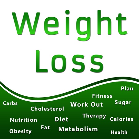 Weight Loss Heading and Keywords - Green Banco de Imagens