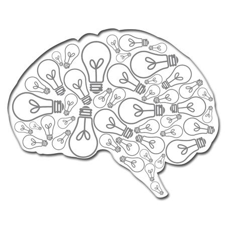 Cervello pieno di idee Archivio Fotografico