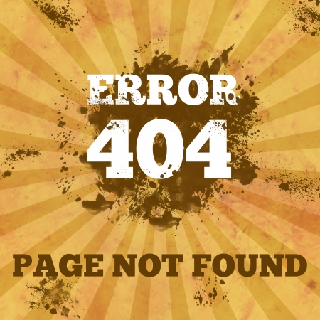 404 Not Found - Vintage with Spatter Stock Photo - 18969839