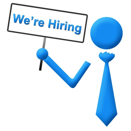 we: We Are Hiring Signboard Stock Photo
