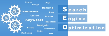 optimize: Seo With Gears and Keywords