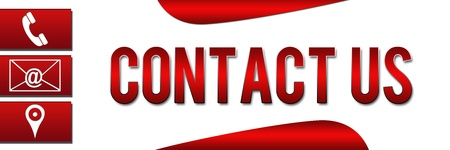 Contact Us Banner Red Stock Photo - 20045844