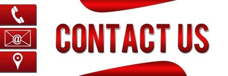 Contactez-nous bannière rouge Banque d'images - 20045844