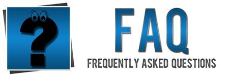 FAQ avec point d'interrogation Banque d'images - 20893792