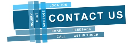 contact page: Contact Us Blue Strips