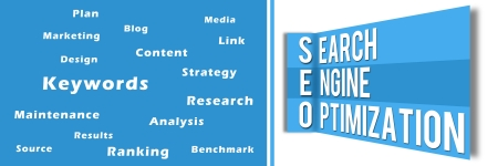 SEO Wall Blue Banner photo